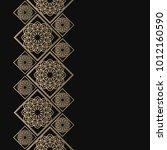 golden frame in oriental style. ... | Shutterstock .eps vector #1012160590