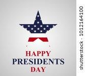 presidents day background | Shutterstock .eps vector #1012164100