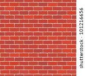 Seamless Vector Red Brick Wall  ...