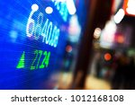 data of stock market on digital ... | Shutterstock . vector #1012168108