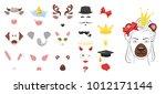 vector cartoon style cute... | Shutterstock .eps vector #1012171144