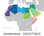 map of arab league. vector.  | Shutterstock .eps vector #1012171813