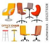 office chairs set vector.... | Shutterstock .eps vector #1012173328