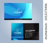 blue and white modern business... | Shutterstock .eps vector #1012173406