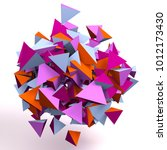 colorful floating 3d... | Shutterstock . vector #1012173430
