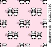 seamless baby pattern with cute ... | Shutterstock .eps vector #1012173880