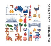 country australia. pixel art... | Shutterstock .eps vector #1012175890