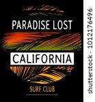 summer beach vector background... | Shutterstock .eps vector #1012176496