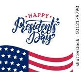 happy presidents' day...   Shutterstock .eps vector #1012179790