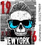 skull fashion tee graphic design | Shutterstock .eps vector #1012179859
