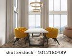 modern dining room interior... | Shutterstock . vector #1012180489