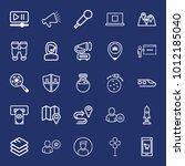 technology outline vector icon...   Shutterstock .eps vector #1012185040