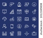technology outline vector icon... | Shutterstock .eps vector #1012185838