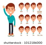 talking lips sync animation.... | Shutterstock .eps vector #1012186000