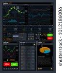 stock trading vector concept ui ...