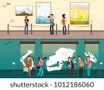 cartoon museum gallery... | Shutterstock .eps vector #1012186060