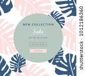 trendy pastel sale banners... | Shutterstock .eps vector #1012186360