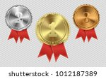 set of gold  bronze and silver. ... | Shutterstock .eps vector #1012187389