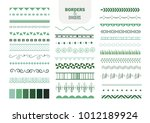 borders and dividers set | Shutterstock .eps vector #1012189924