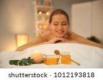 honey for spa procedures and...   Shutterstock . vector #1012193818