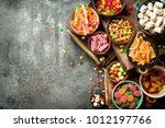 various sweets and candied... | Shutterstock . vector #1012197766