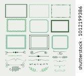 set of decorative elements.... | Shutterstock .eps vector #1012199386