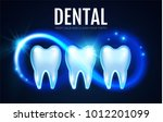 shining helthy tooth with... | Shutterstock .eps vector #1012201099