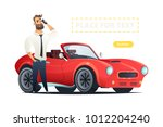 man talking on the phone and... | Shutterstock .eps vector #1012204240