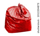 waste  red garbage bag plastic... | Shutterstock . vector #1012204873