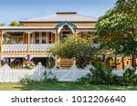Australian countryside. Old Queenslander style house in suburbs. Shorncliffe, Australia
