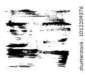 vector grungy black paint  ink... | Shutterstock .eps vector #1012209376
