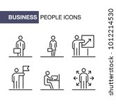 business people icons set... | Shutterstock .eps vector #1012214530