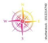 pink and yellow compass | Shutterstock .eps vector #1012214740