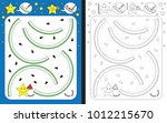 preschool worksheet for... | Shutterstock .eps vector #1012215670