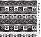 black and white ethnic pattern | Shutterstock .eps vector #1012217014