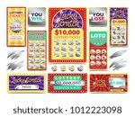 winning scratching lottery... | Shutterstock .eps vector #1012223098
