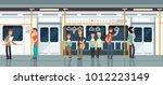 modern subway passenger... | Shutterstock .eps vector #1012223149