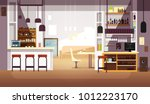 modern empty bar or coffee shop ... | Shutterstock .eps vector #1012223170