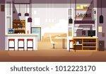 modern empty bar or coffee shop ... | Shutterstock .eps vector #1012223170