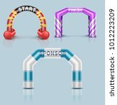 inflatable race start and... | Shutterstock .eps vector #1012223209