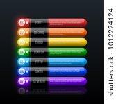 seven rainbow options in clean... | Shutterstock .eps vector #1012224124