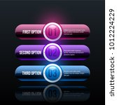 three options in glossy... | Shutterstock .eps vector #1012224229