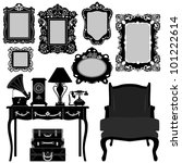 antique picture frame ornate... | Shutterstock .eps vector #101222614