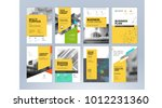 set of business brochure ... | Shutterstock .eps vector #1012231360