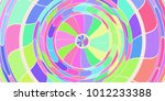 colored circles art action... | Shutterstock . vector #1012233388