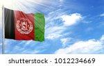 Flag Of Afghanistan On Flagpol...