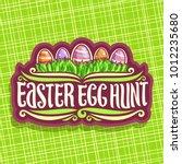 vector logo for easter holiday  ... | Shutterstock .eps vector #1012235680