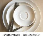 dirty dishes close up.   Shutterstock . vector #1012236010