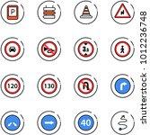 Line Vector Icon Set   Parking...