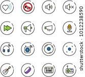 line vector icon set   heart... | Shutterstock .eps vector #1012238590